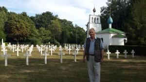 Русское военное кладбище и церковь, построенная Альбертом Бенуа. Сент-Илер-ле-Гран, под Мурмелоном, Шампань